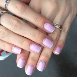 Light french manicure photo