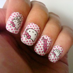 Nails with a painting photo
