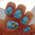 Nails with a painting
