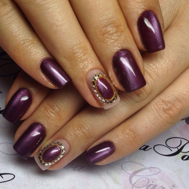 Nails with sparkles