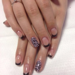 Classic French nails photo
