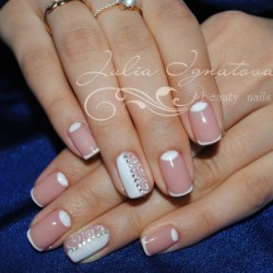 Half moon French nails photo