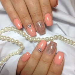 Nails with sparkles photo