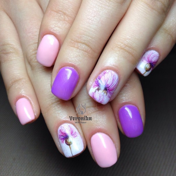 Весенний дизайн на короткие ногти