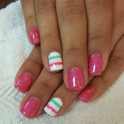 Fashionable summer nails 2016 photo