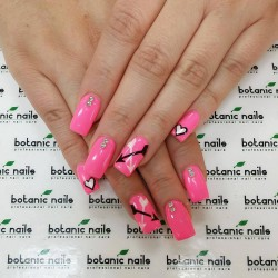 Nails with heart photo
