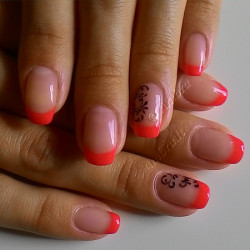 Neon french manicure photo