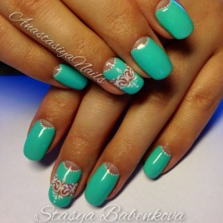 Original half moon nails photo