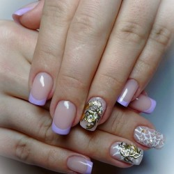 Colored French nails photo