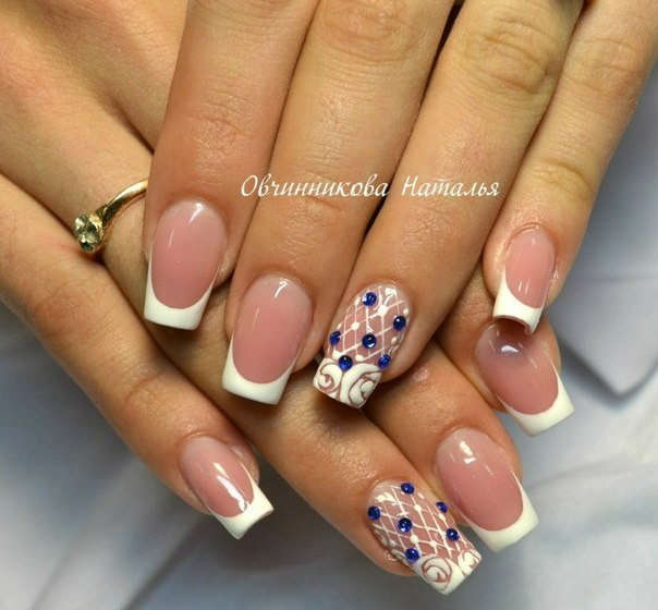 Nails with crystals - The Best Images | BestArtNails.com