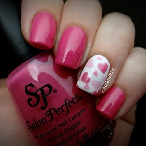 White-pink nails