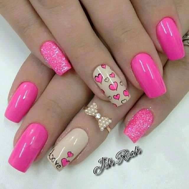 Ногти гель-лак дизайн розовые