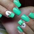 White- turquoise nails