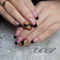 Oval French nails