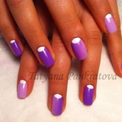 Ombre short nails photo