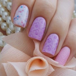 Lavender nails photo