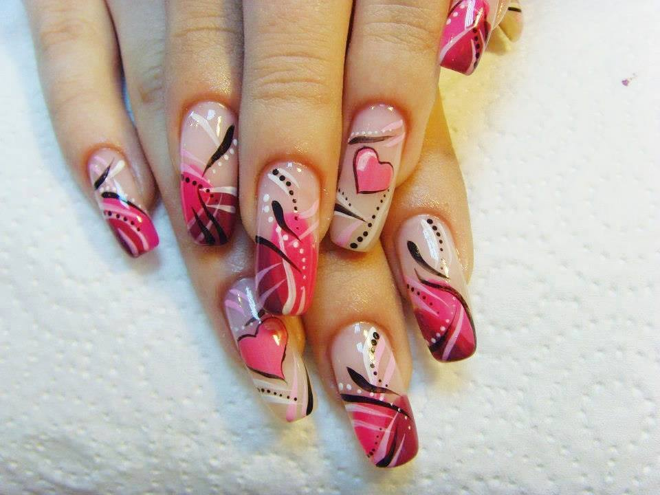 Nails with heart