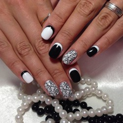 Black and white nails ideas photo