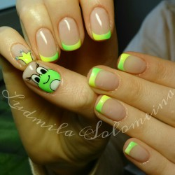 French manicure for kids photo