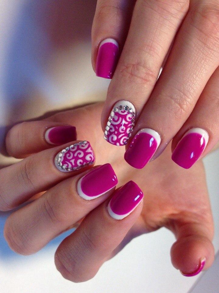 Fuchsia nails - The Best Images | BestArtNails.com
