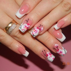 Orchid nails photo