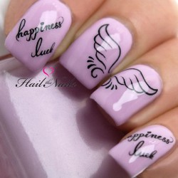 Nailswith inscriptions photo