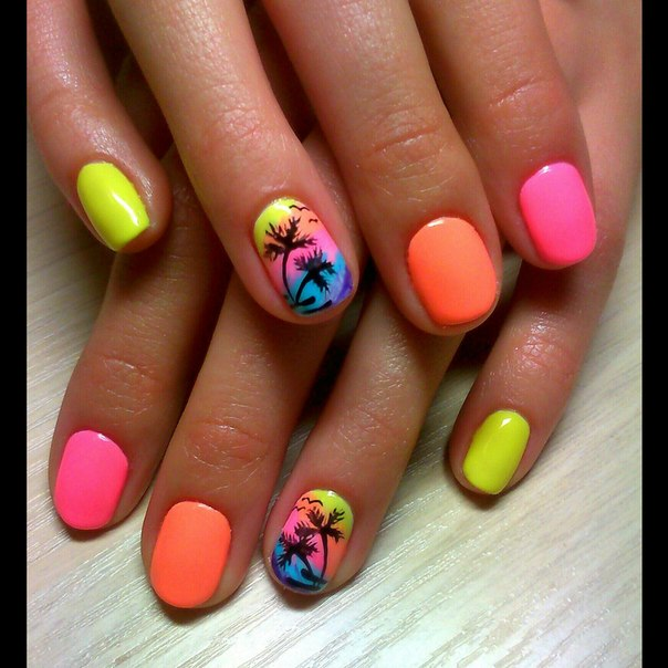 Bright nails - Nail Art #628 - Best Nail Art Designs Gallery BestArtNails.com