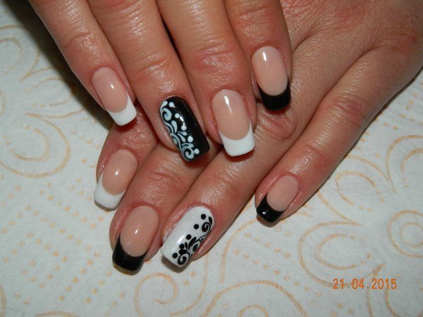 Two-color nails ideas