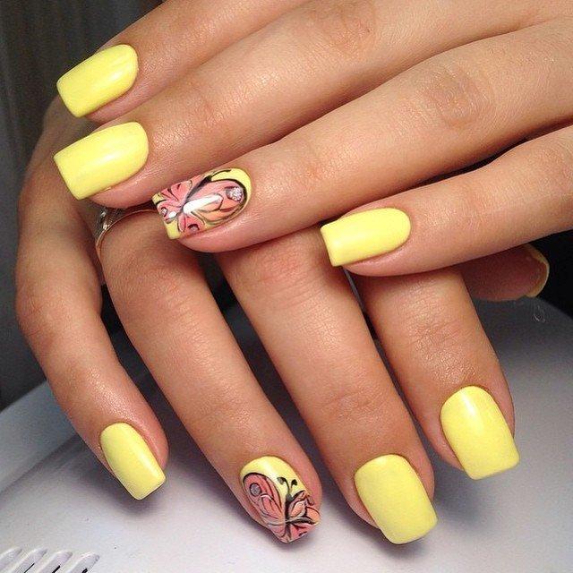 Nail Designs Green And Yellow