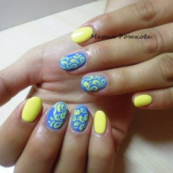 Yellow and blue nails the best images bestartnails yellow and blue nails photo prinsesfo Choice Image