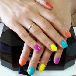Multi-color nails photo