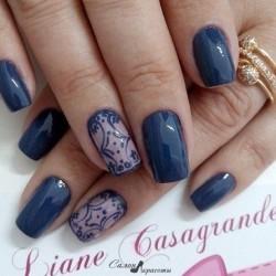Nail polish for blue dress photo