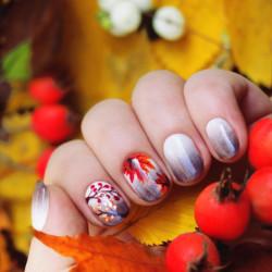 Autumn ombre nails photo