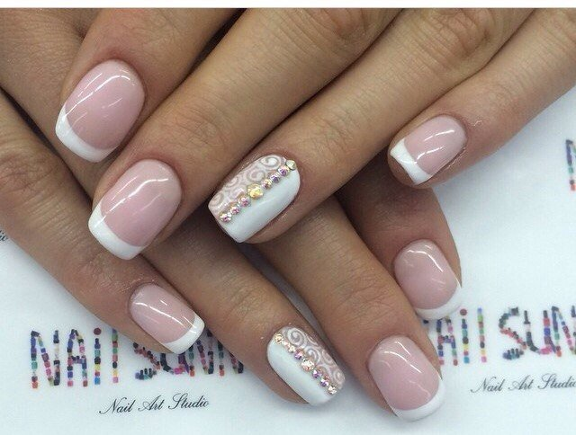 Nail art 1062 best nail art designs gallery bestartnails french nails prinsesfo Image collections