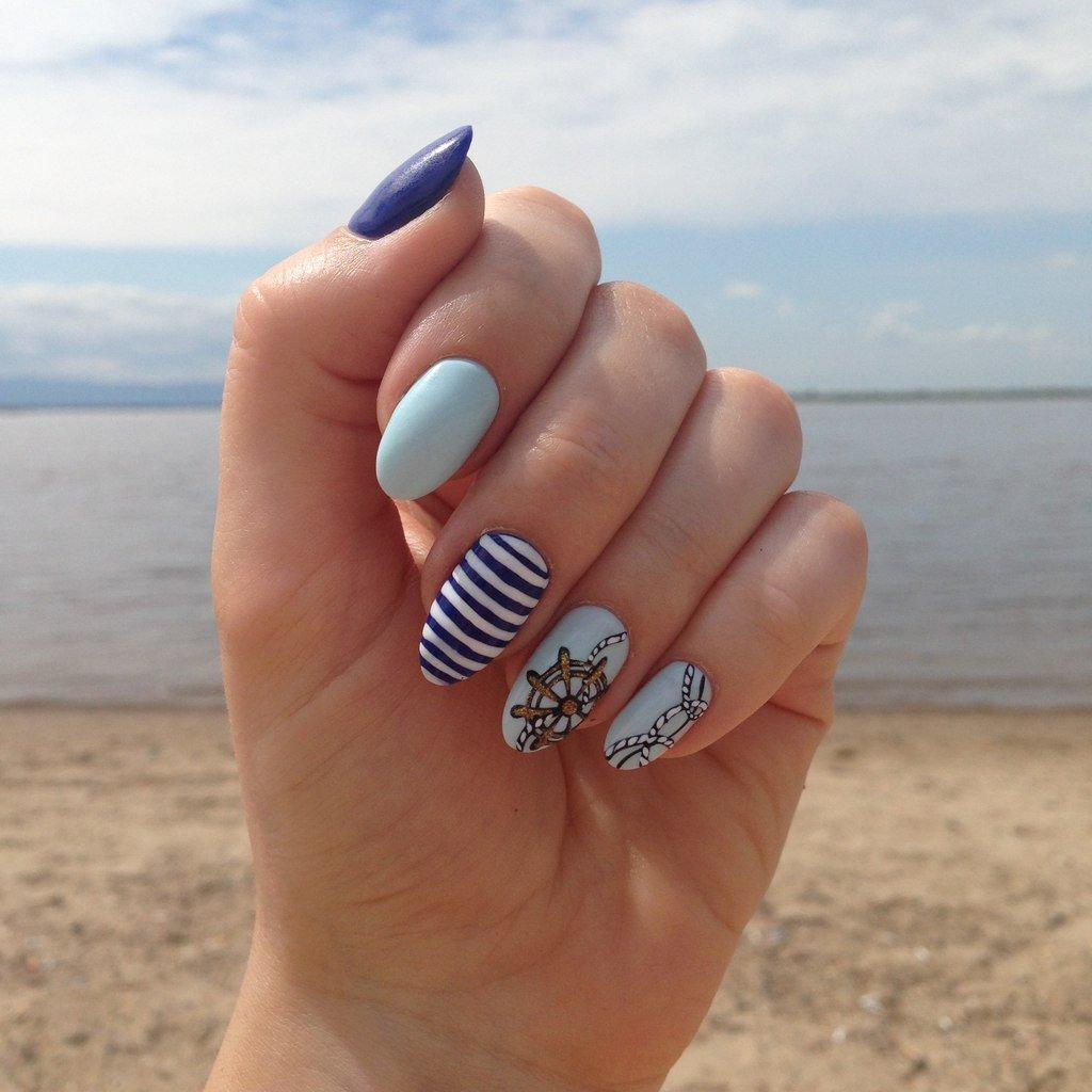 Дизайн ногтей 2018 фото новинки лето на море
