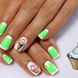 Ice-cream nails photo