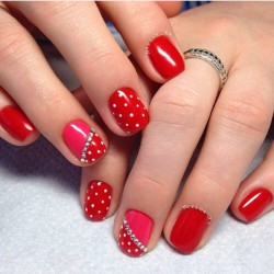Red Gel Nails Photo