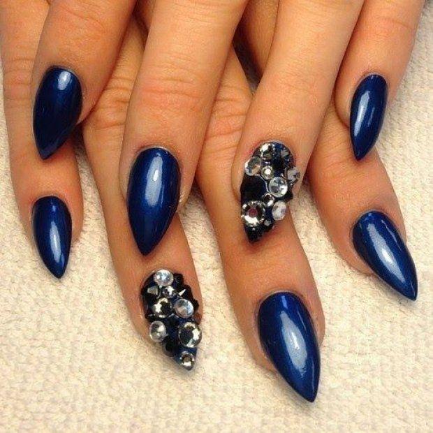 Blue gel polish for nails - The Best Images | BestArtNails.com