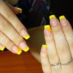 Acid yellow nails photo