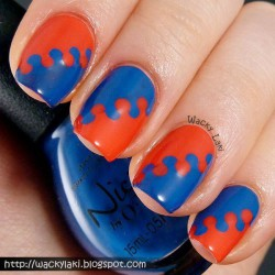 Red and blue nails photo