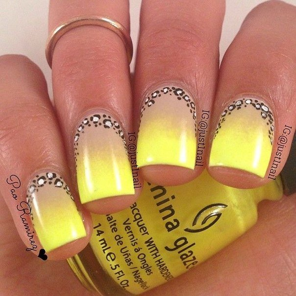 Yellow And Blue Nail Designs