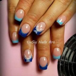 Blue manicure photo