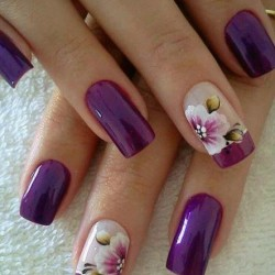Nail designs with purple photo