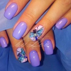 Light purple nails photo