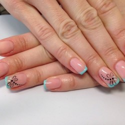 Nails with dragonfly photo