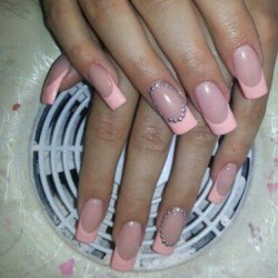 Pink french manicure photo