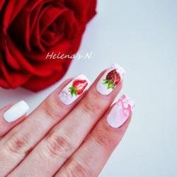 Strawberry nails photo