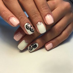 Nails for dairy dress photo