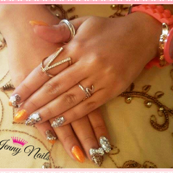 Orange shellac photo