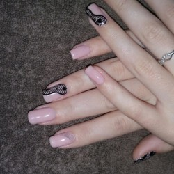 Manicure for square nails photo